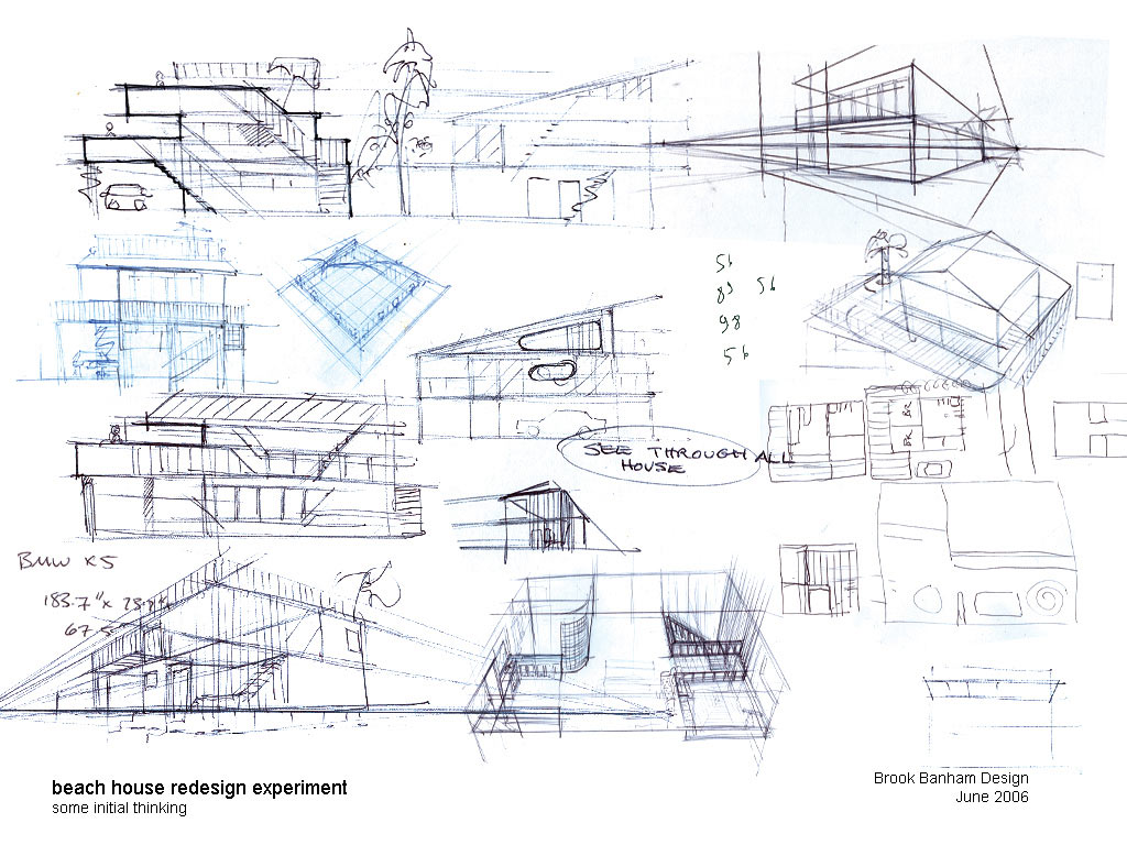 Automotive industrial product and footwear design sketches by brook banham House plan sketch design