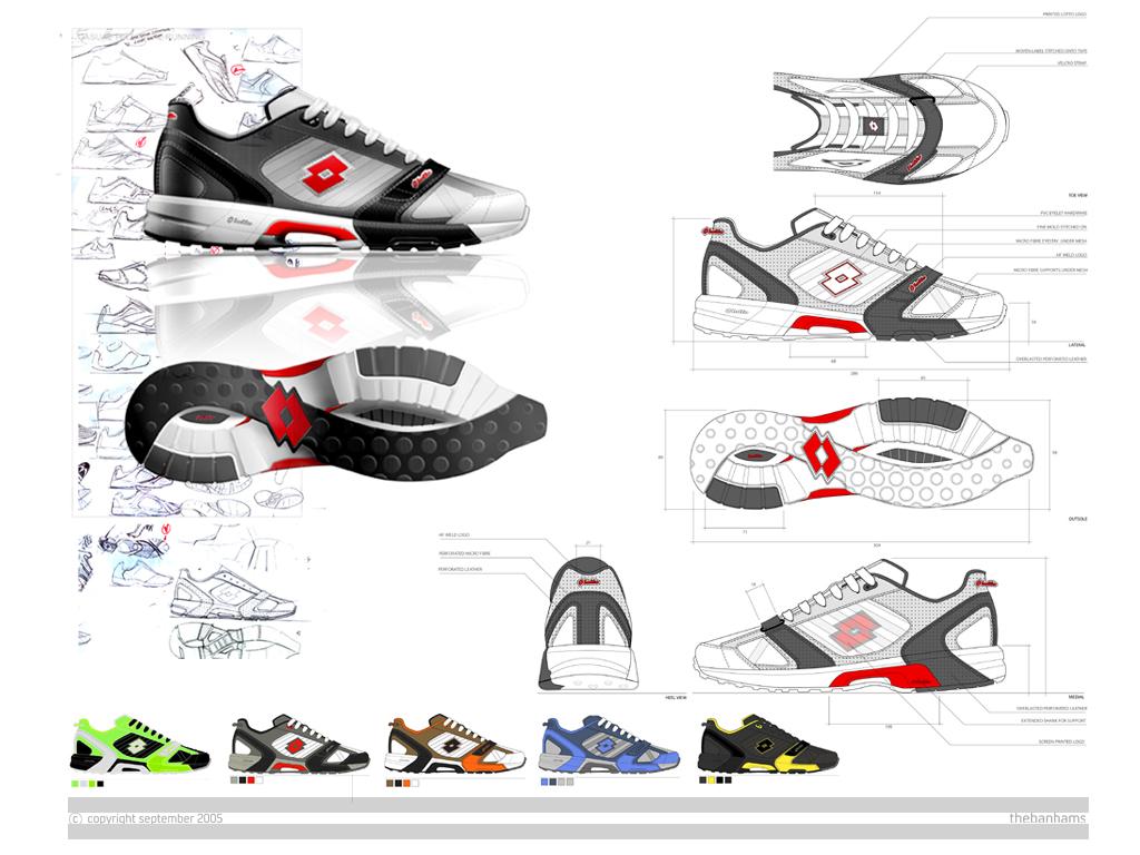 Footwear design portfolio examples