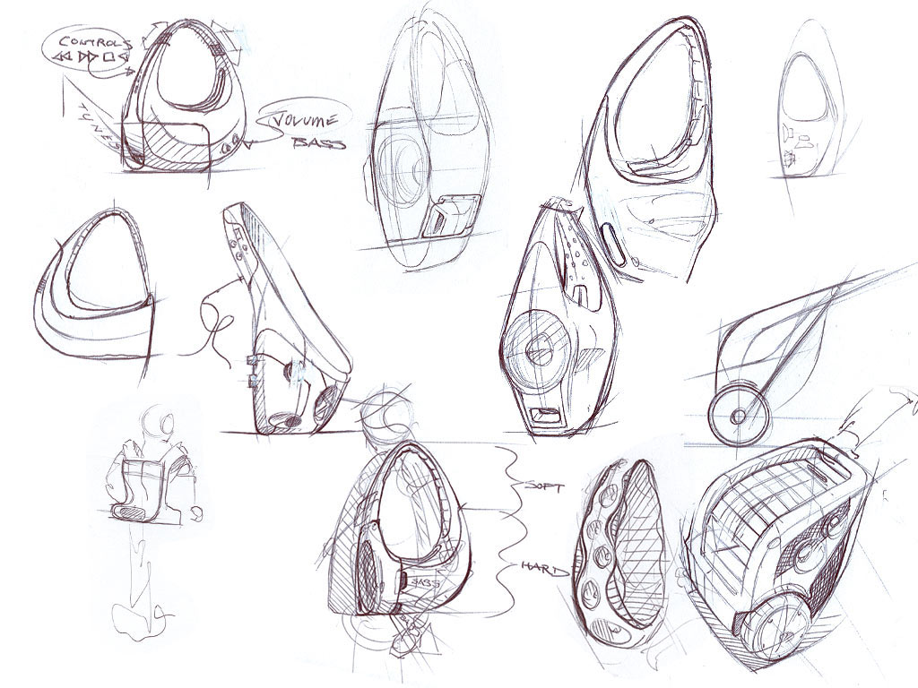 Product Design Line Art : Automotive industrial product and footwear design